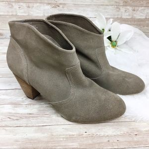 Steve Madden Philip Gray Leather Ankle Boots 10